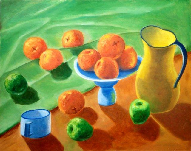 Still Life w/ Oranges & Apples