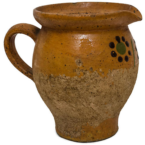 French Alsatian Pottery Pitcher