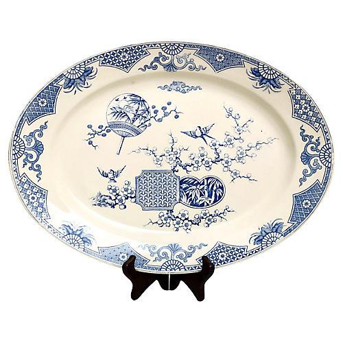 1880s English Chinoiserie Platter